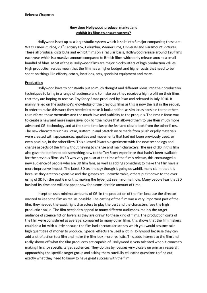Movie Evaluation Essay | Template