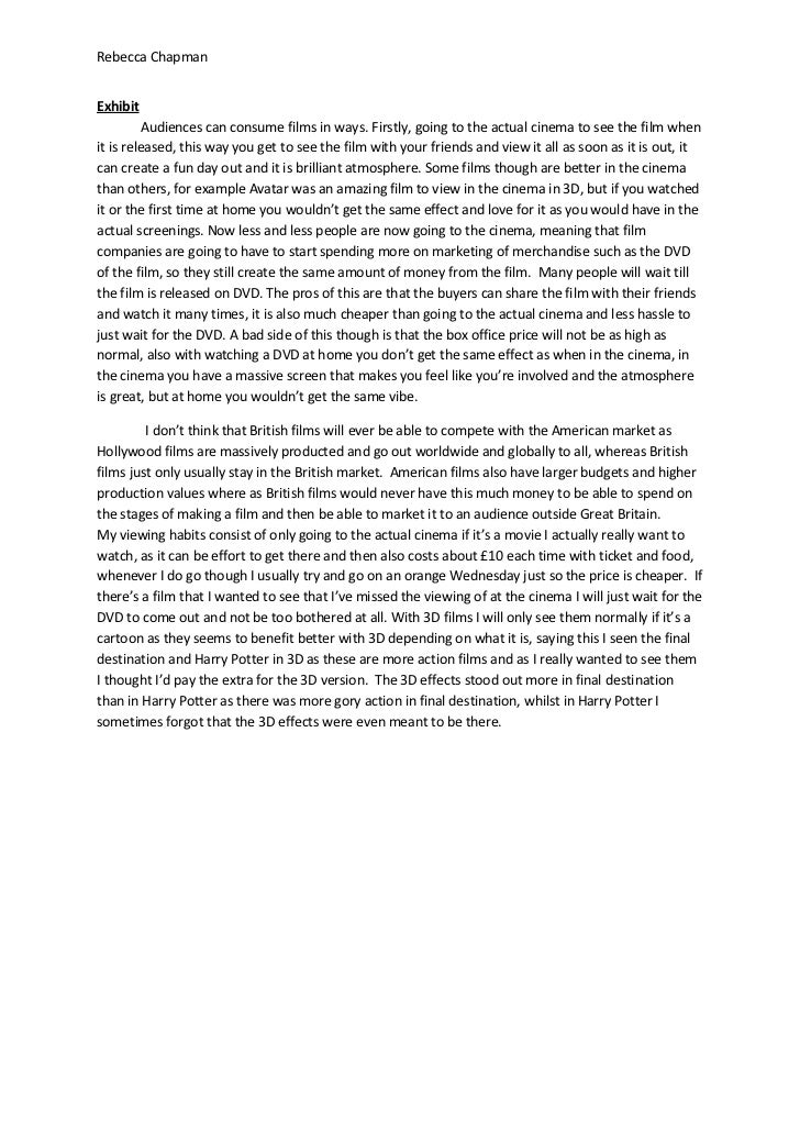Write my cinema essay