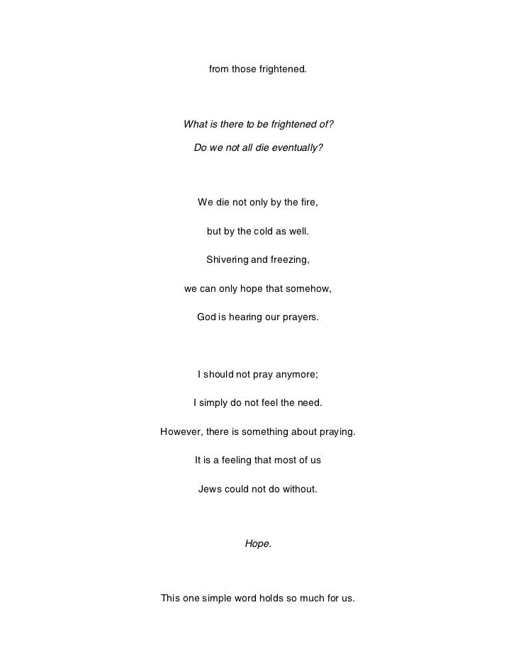 Poetry about holocaust?