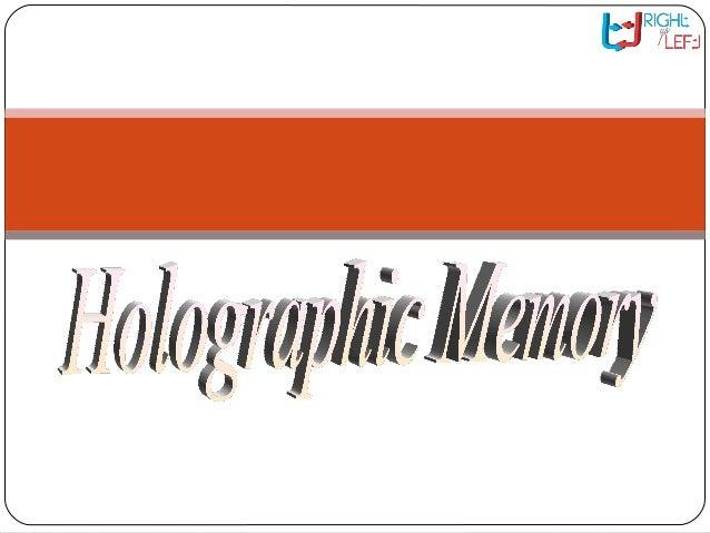 Holographic Data Storage