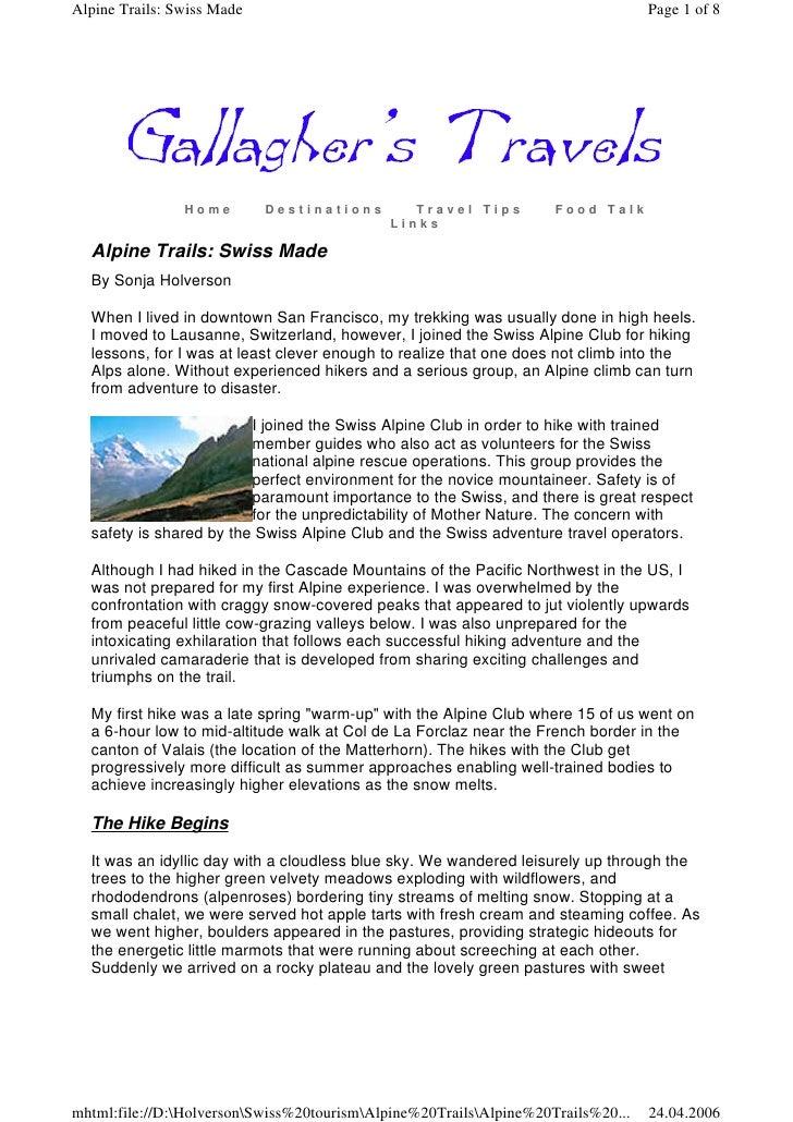 Holverson alpine trails swiss made