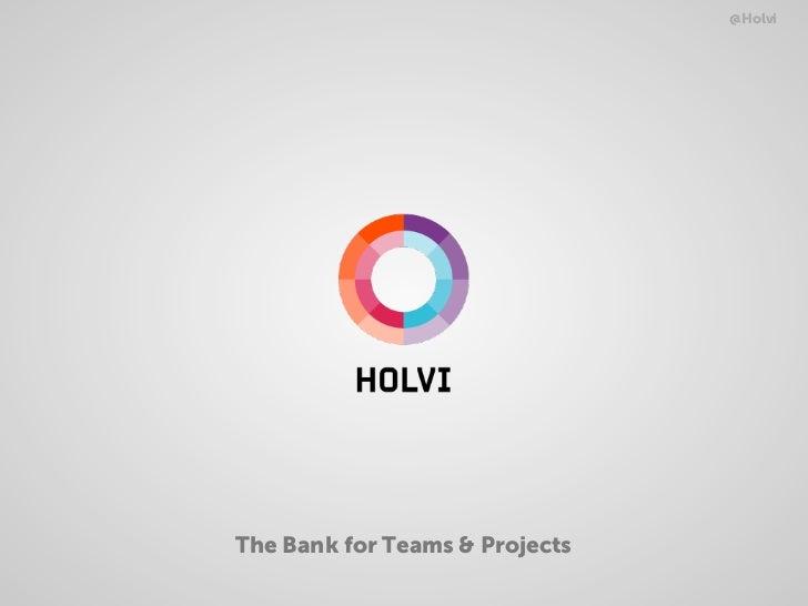 Holvi MoneyTalks Presentation 30.08.2012