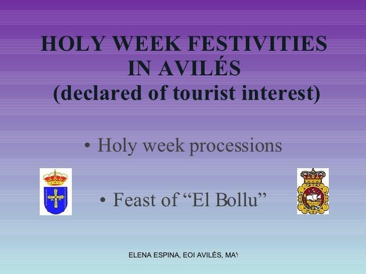 Holy week in Avilés