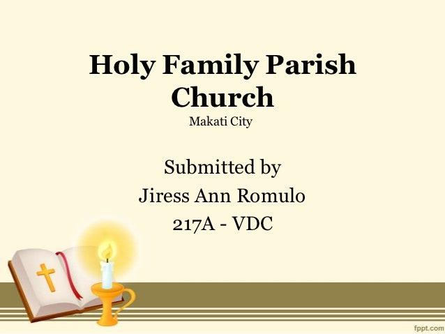 Holy family parish makati