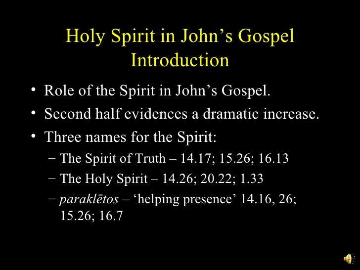 Holy Spirit In John's Gospel