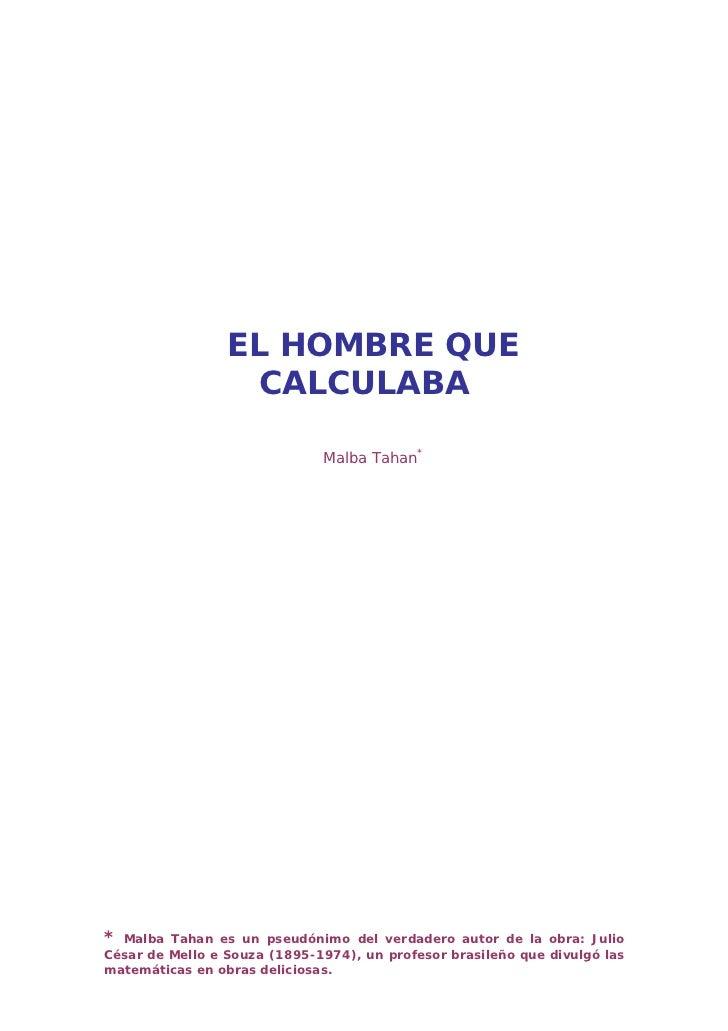 Hombre calculaba