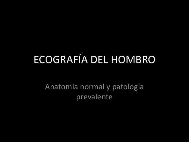 ECOGRAFÍA DEL HOMBRO Anatomía normal y patología prevalente