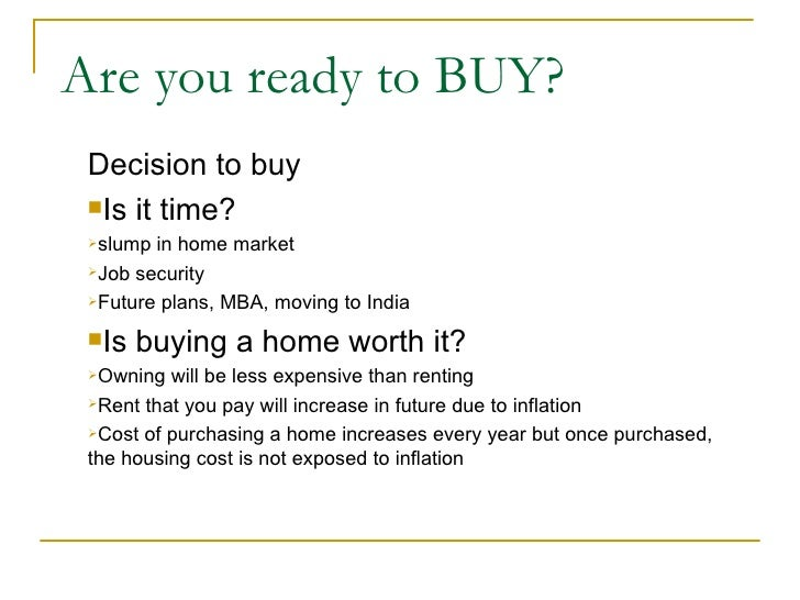 Home Buying - Quick review