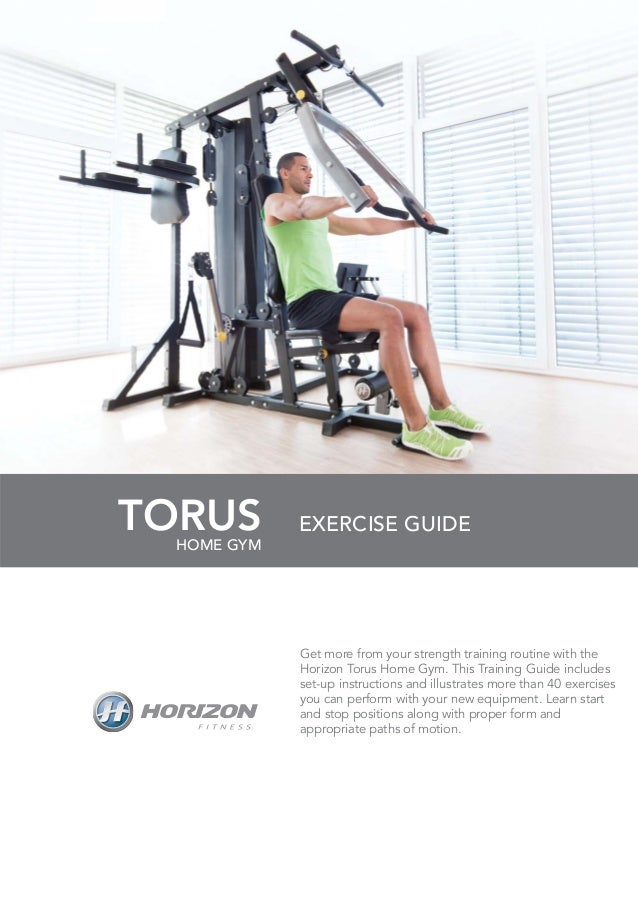 Home gym exercise guide