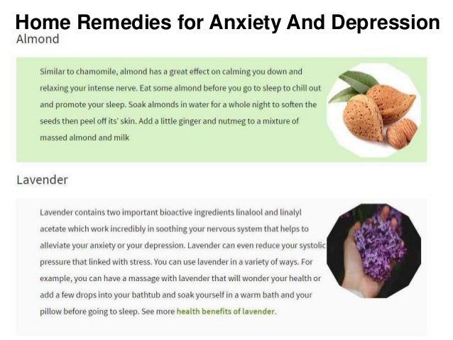 natural herbs and supplements for anxiety and depression