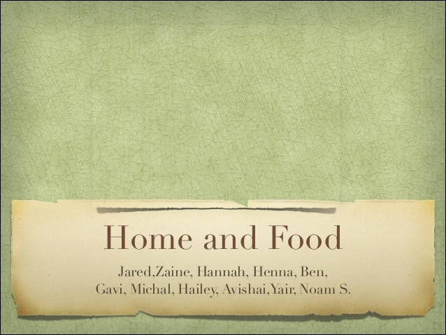 Home and food