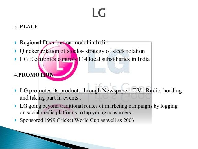 market analysis of lg consumer durables