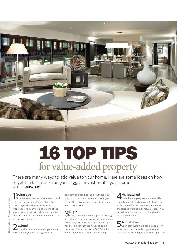 16 Top Tips for Value-Added Property