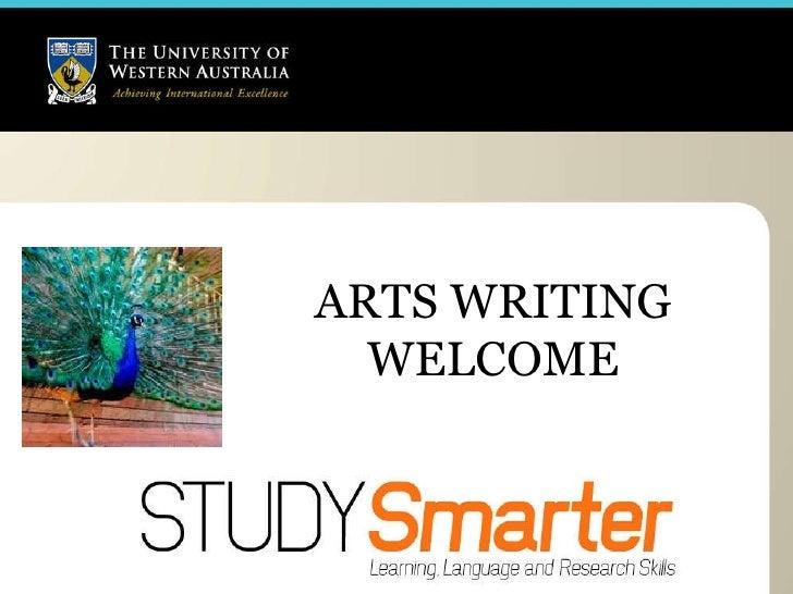 ARTS WRITING WELCOME