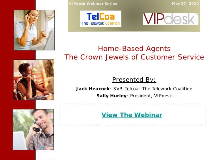 VIPdesk Webinar Series                                             May 27, 2010               Cover Slide              Hom...