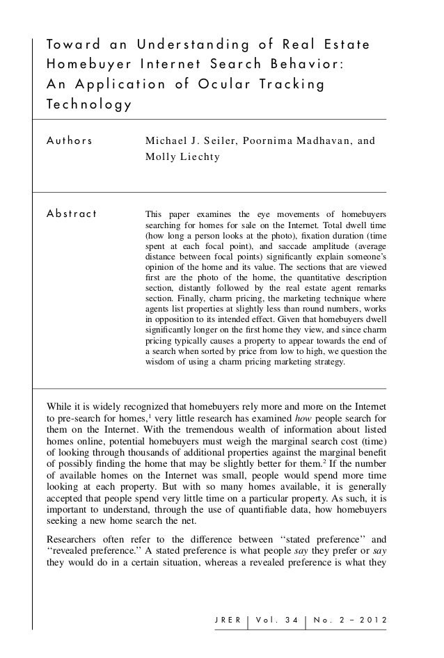 Homebuyer Internet Search Behavior Study 2.2012