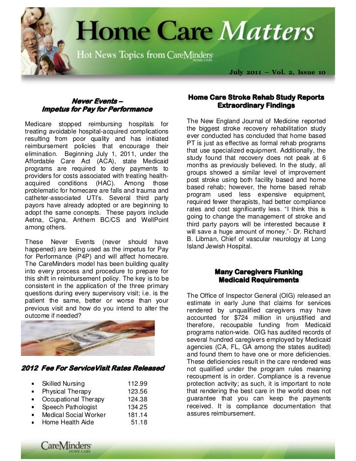 July 2011 – Vol. 2, Issue 10                                                         Home Care Stroke Rehab Study Reports ...