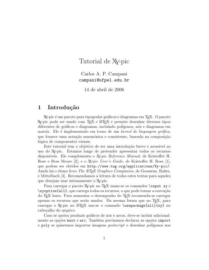 Tutorial de X -pic                                      Y                          Carlos A. P. Campani                   ...
