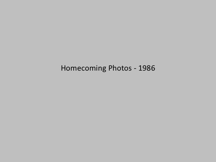 Homecoming Photos - 1986