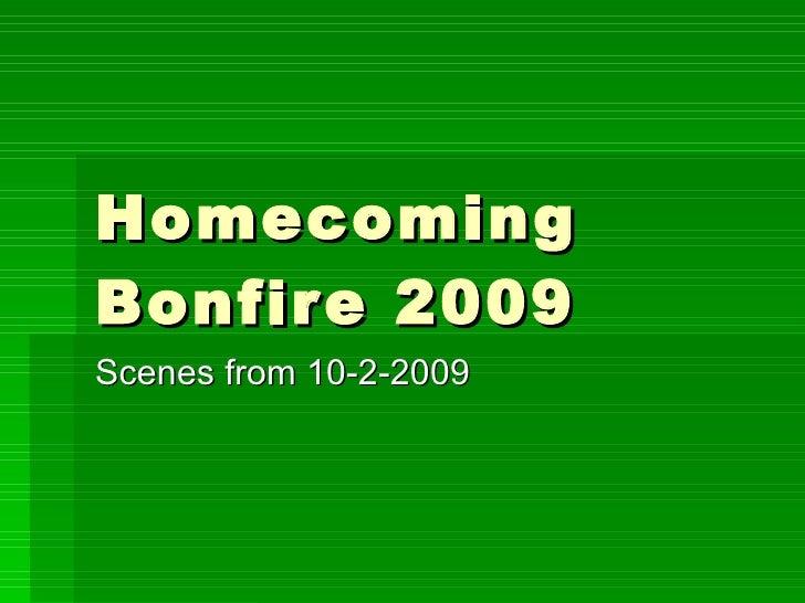 ENMU Homecoming Bonfire 2009