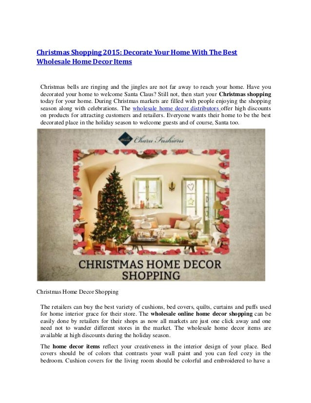 Christmas shopping 2015 decorate your home with the best for Best home decor items