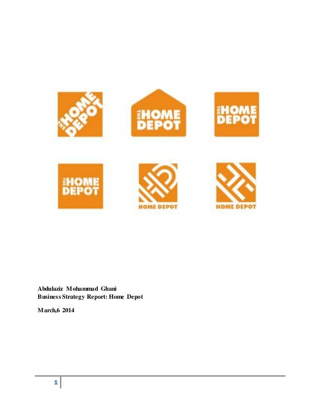 home depot strategy analysis Out of the three michael's porter generic strategy, home depot inc is following cost leadership strategy because the company is trying to maintain and increase its market share by emphasizing low cost compared to competitors.