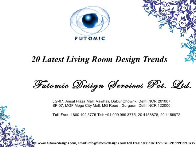 Home designing trends for Living Rooms