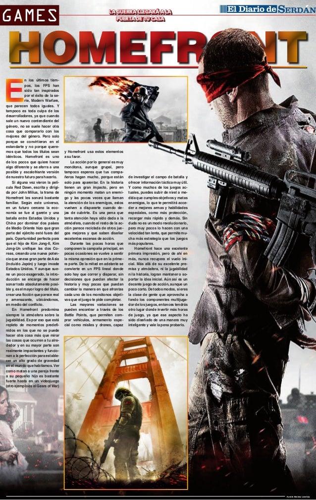 GAMES  n los últimos tiempos, los FPS han sido tan inspirados por el éxito de la serie, Modern Warfare, que parecen todos ...