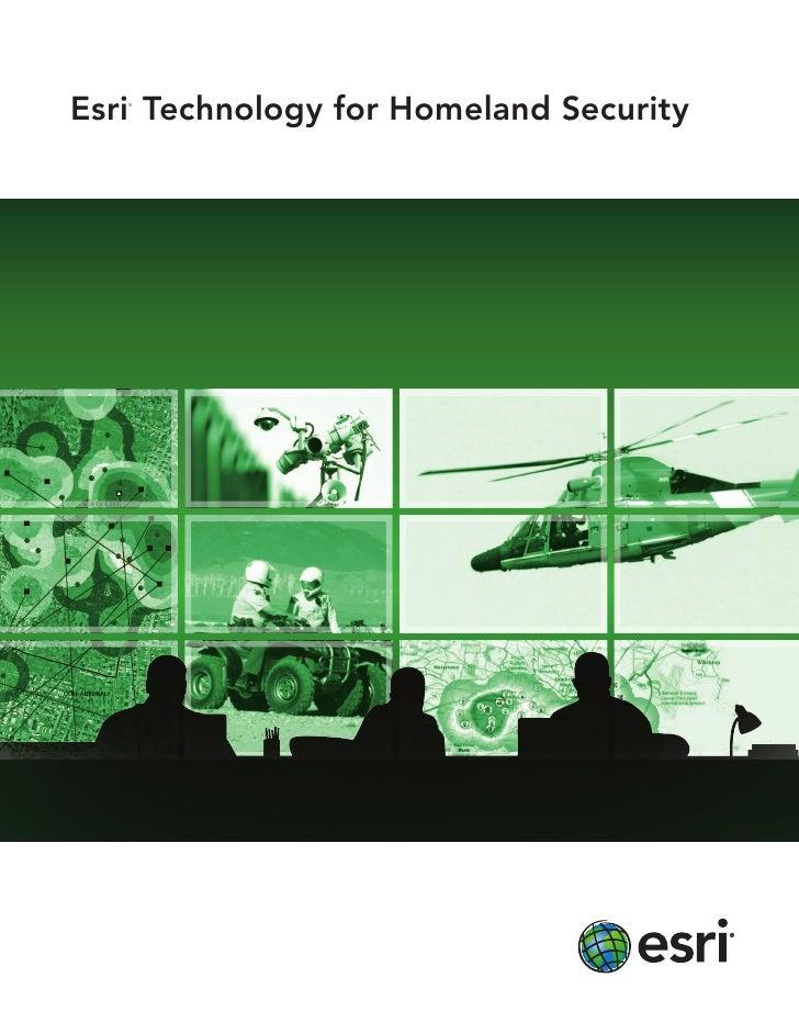 Esri Technology for Homeland Security
