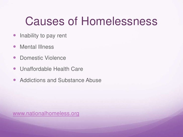 homelessness causes and effects essays