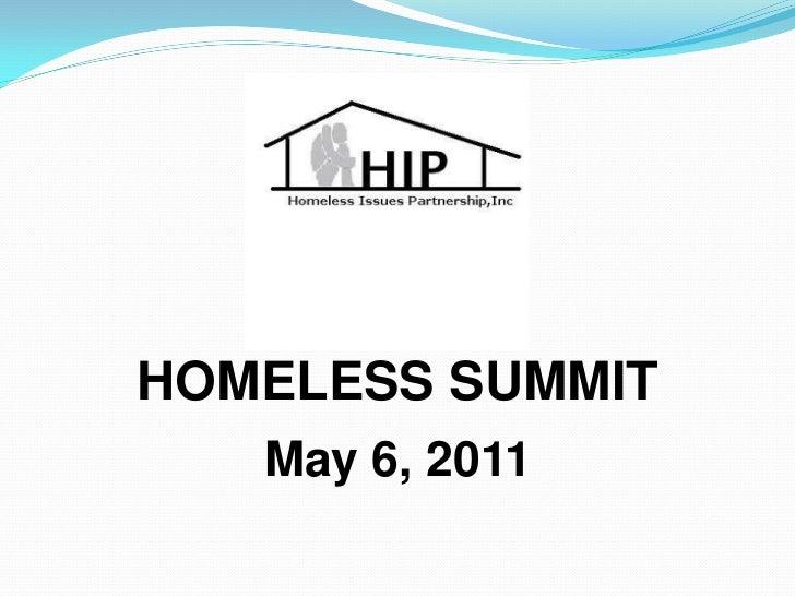 HOMELESS SUMMIT   May 6, 2011