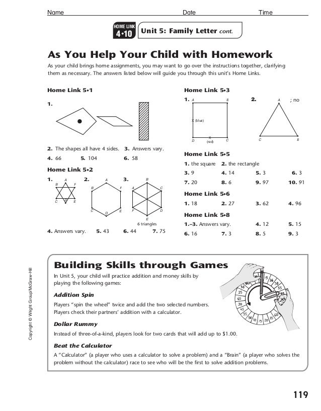 Everyday Math Help: Info for Parents