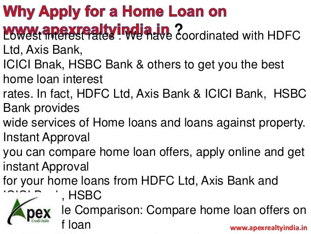 comparative analysisof homeloanb w hdfc and icici