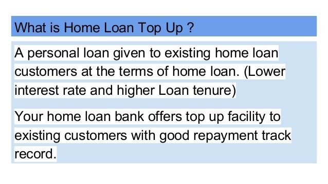 Home Loan Top Up Process
