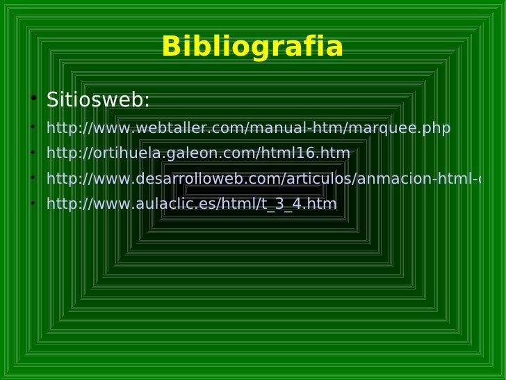 Etiquetas Html Animadas