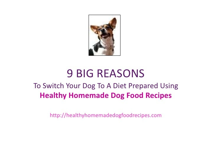 9 BIG REASONSTo Switch Your Dog To A Diet Prepared Using Healthy Homemade Dog Food Recipes http://healthyhomemadedogfoodre...