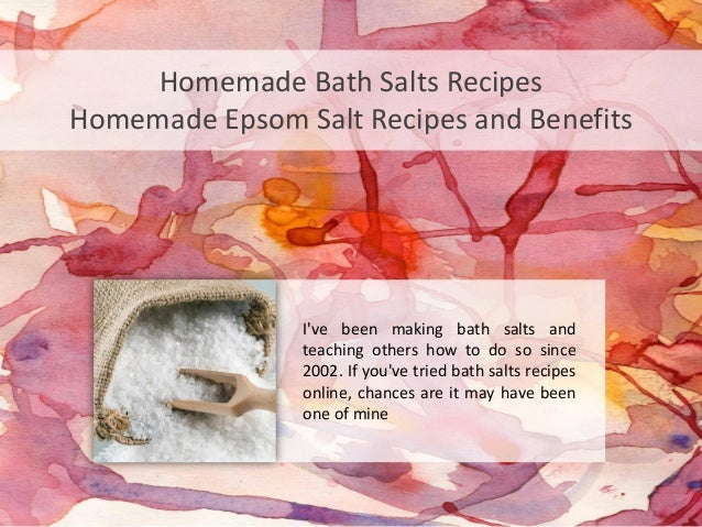 Homemade Bath Salts RecipesHomemade Epsom Salt Recipes and Benefits                Ive been making bath salts and         ...