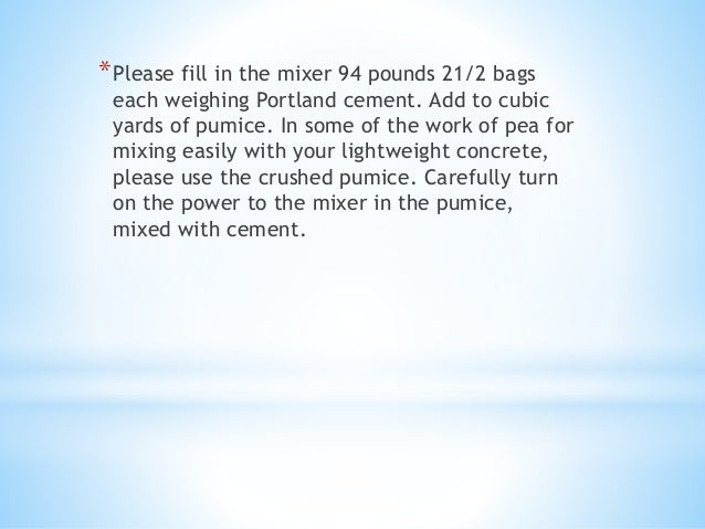 94 Lbs Bag Of Cement : Homemade lightweight concrete blocks