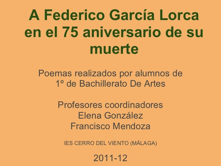 Homenaje a Federico García Lorca