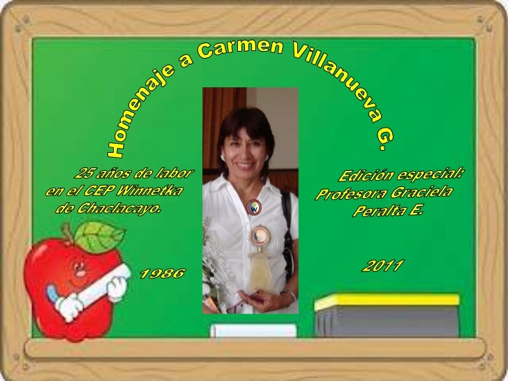 Homenaje a la maestra Carmen Villanueva  García.