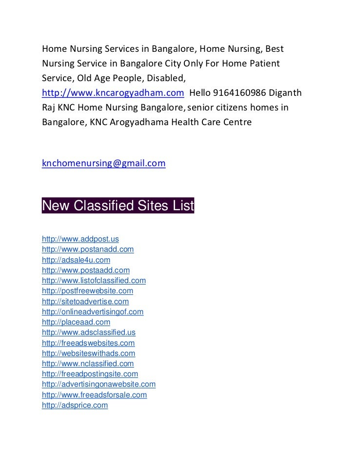 Home Nursing Services in Bangalore, Home Nursing, BestNursing Service in Bangalore City Only For Home PatientService, Old ...