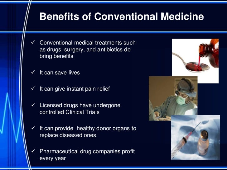 alternative conventional medicine essays Free essays complementary and alternative medicine disease primarily with alternative therapies whereas it should only be in addition to conventional medicine.