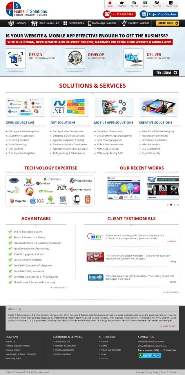 Fiable IT Solutions-Home Page