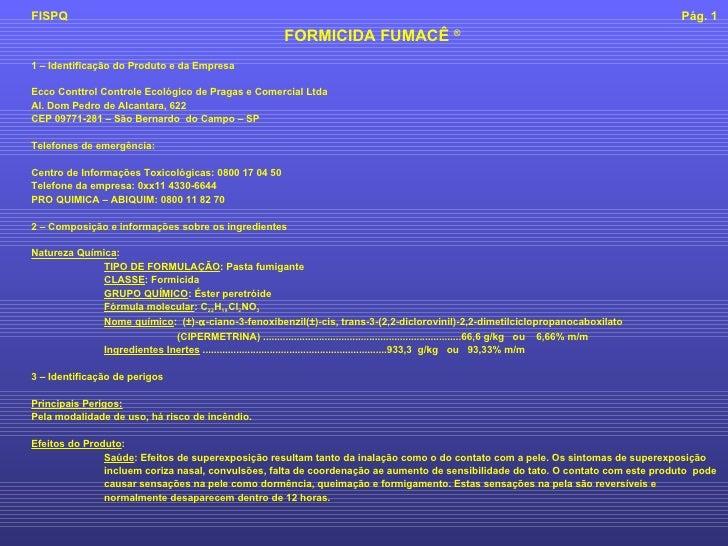FISPQ - Ficha Completa