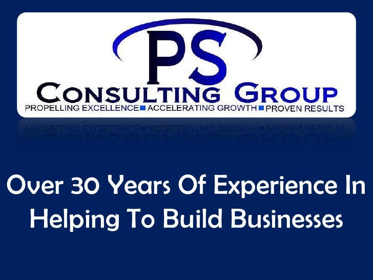 Over 30 Years Of Experience In  Helping To Build Businesses