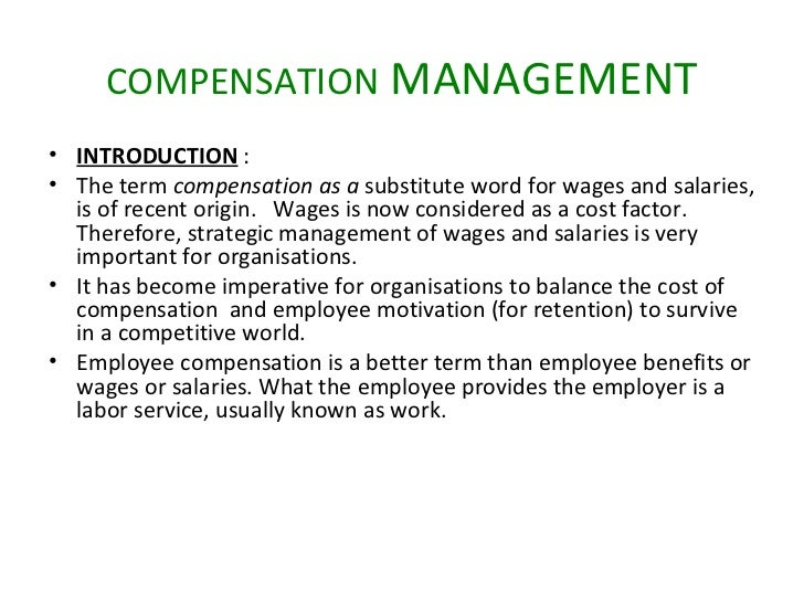 literature review on compensation and benefits Influence of employee compensation on organizational commitment and job literature review compensation systems may.