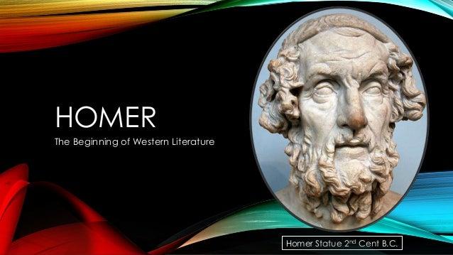 HOMER The Beginning of Western Literature  Homer Statue 2nd Cent B.C.