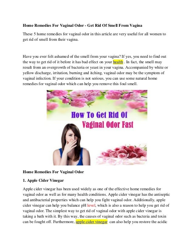 home remedies for smelly vagina