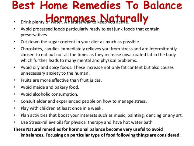 How to Balance Stress Hormones Naturally