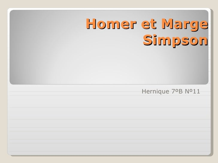 Homer et Marge      Simpson      Hernique 7ºB Nº11